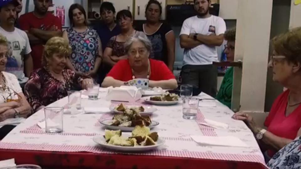 Hebe de Bonafini junto a un grupo de madres en el video que subieron a las redes.