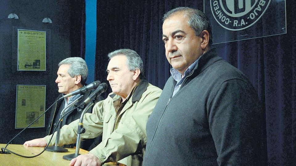 El triunvirato que encabeza la CGT anunciará las medidas de fuerza.