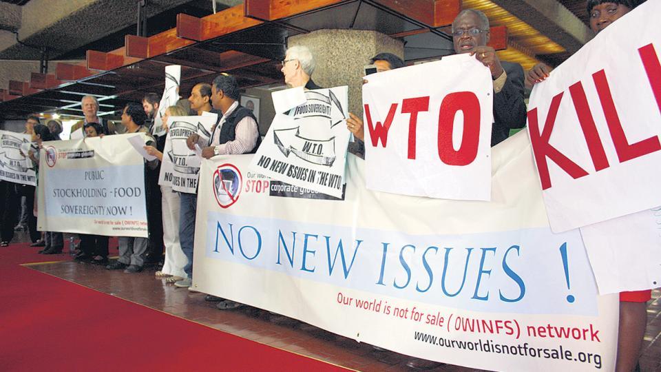 Protestas en Nairobi, Kenia, en la anterior cumbre. Era una manifestación de Owinfs, una de las entidades rechazadas por Macri.