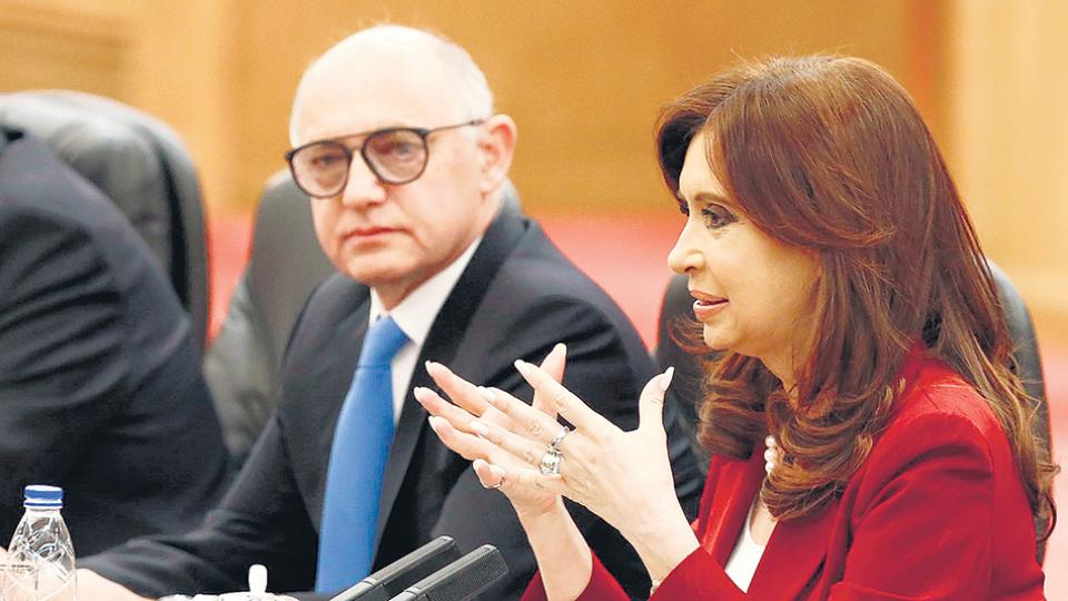 Héctor Timerman y Cristina Kirchner, en la denuncia de Nisman.