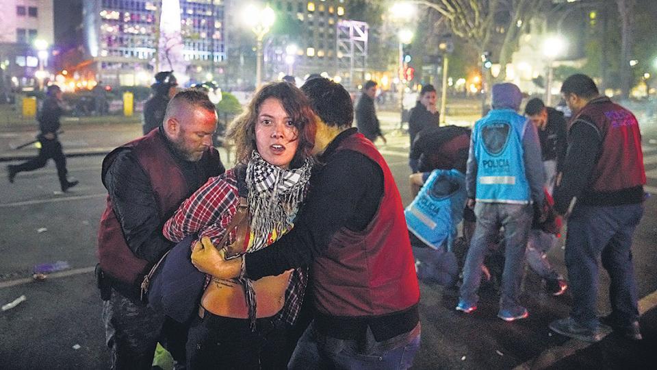 Solo dos de los detenidos tras la marcha quedaron procesados, pero por resistencia a la autoridad.