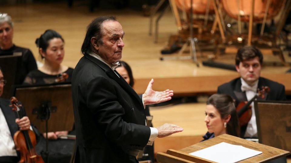 Dutoit tuvo una hija con la célebre pianista argentina.
