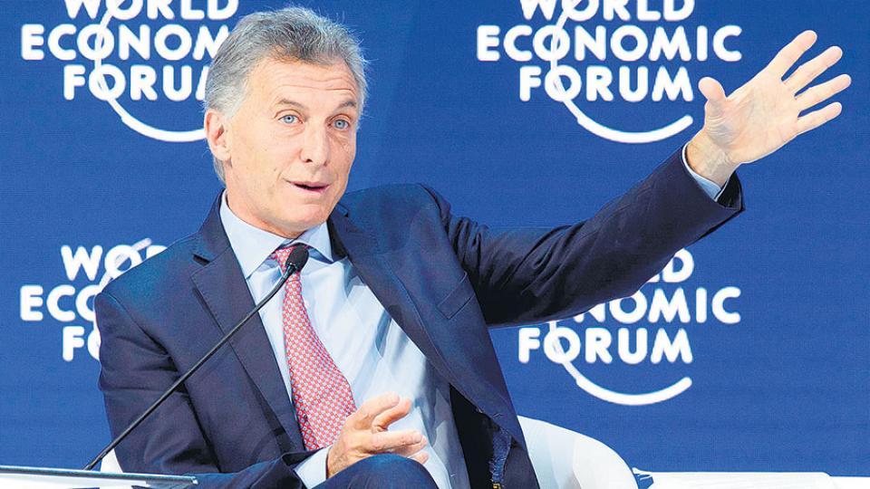 El presidente Mauricio Macri habló ayer en la sesión plenaria del Foro de Davos.
