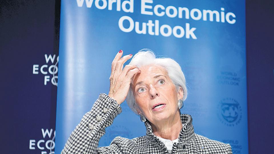 """Lagarde, directora del FMI, alertó sobre los """"niveles de vulnerabilidad en el sector financiero""""."""