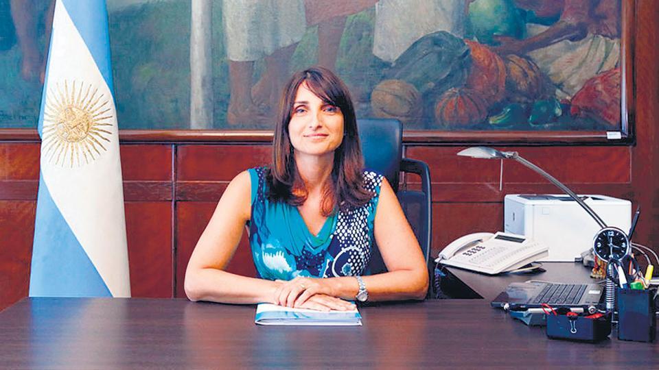 María Cecilia Locciasano, esposa del ministro Jorge Triaca.