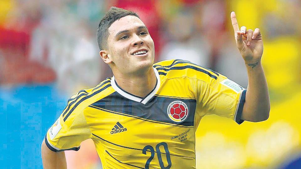 Juan Fernando Quintero, también jugador de la Selección de Colombia.