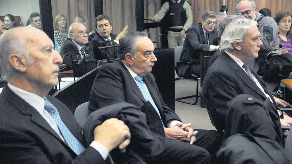 Algunos de los acusados del encubrimiento del atentado: Beraja, Telleldín, Galeano y el Fino Palacios.