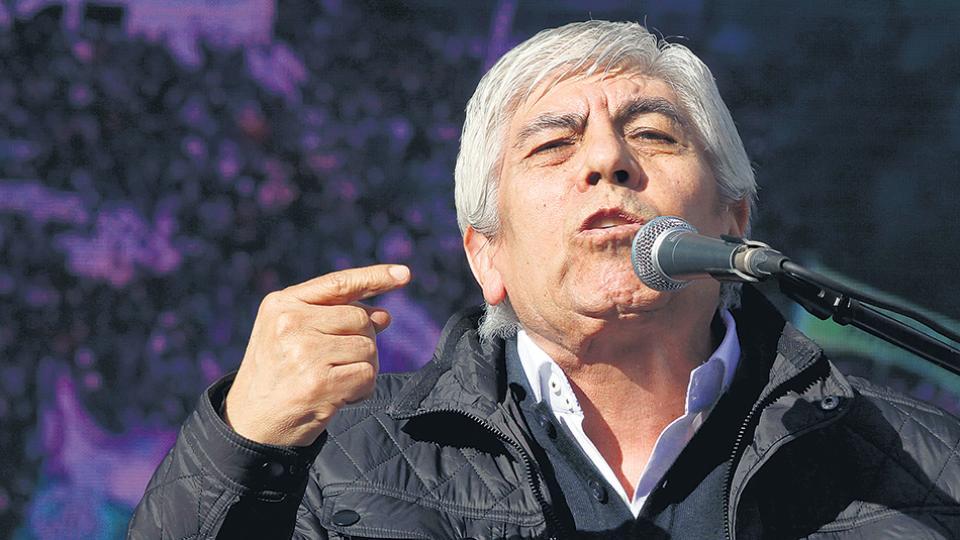 Hugo Moyano, secretario general del sindicato de Camioneros.
