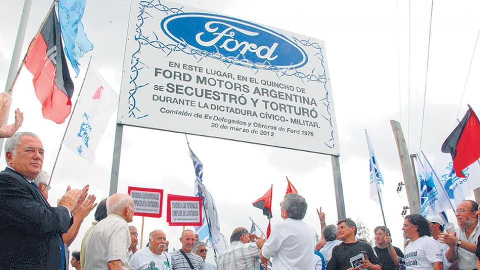 El quincho de Ford Motors Argentina fue señalizado como lugar de secuestro y tortura en marzo de 2012.