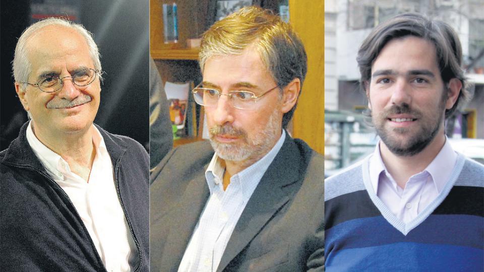 Jorge Taiana, del FpV-PJ, El socialista Jorge Rivas y Nicolás del Caño, del FIT.