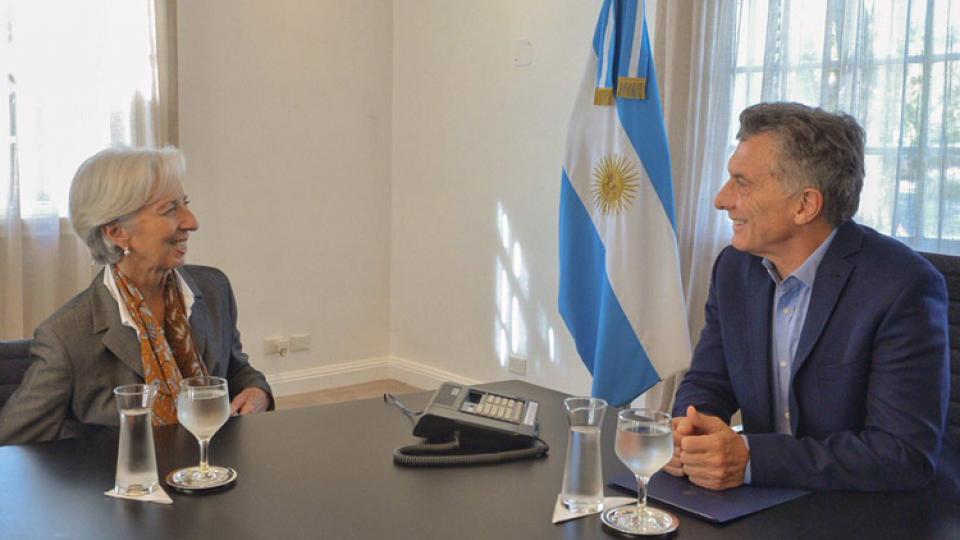 El presidente Macri y la directora del FMI, Christine Lagarde.