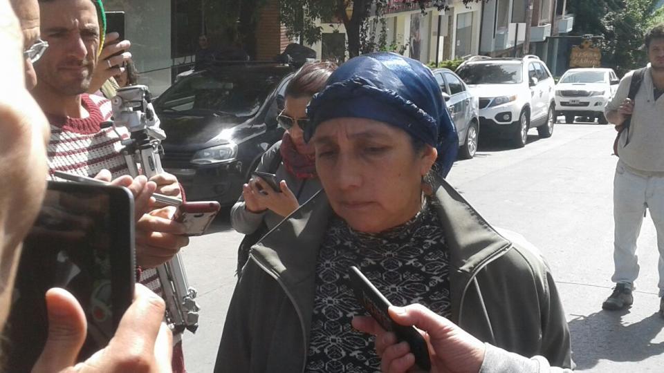 Isabel Huala, madre de Facundo Jones, tras conocerse el fallo.