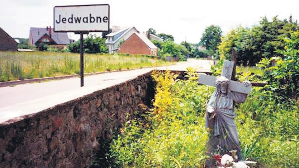 La entrada a Jedwabne, el pueblo de la masacre de 1941.
