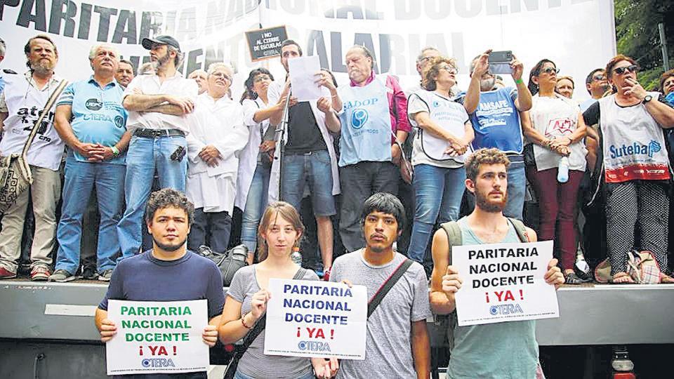 Los docentes porteños participaron del paro nacional y la movilización de esta semana.