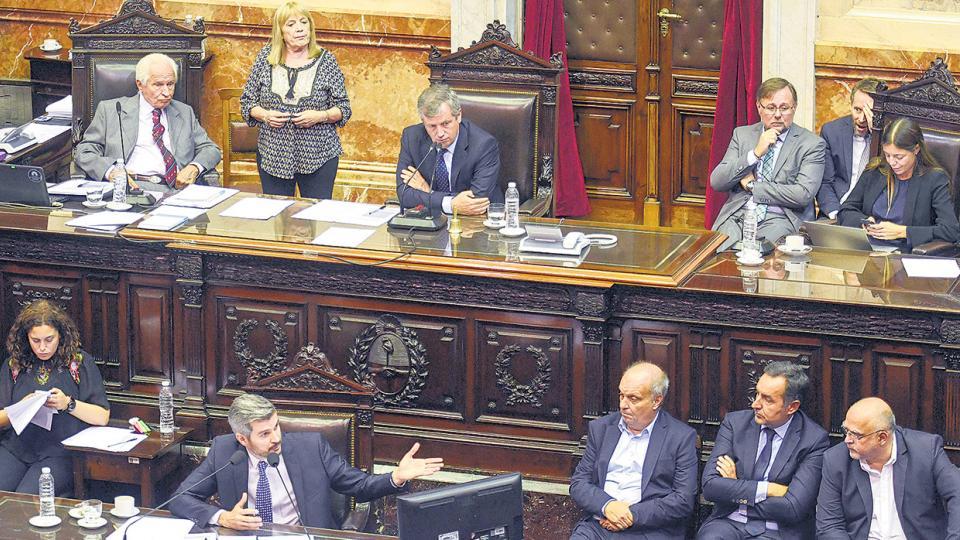 El jefe de Gabinete, Marcos Peña, dio ayer su primer informe del año ante la Cámara de Diputados.