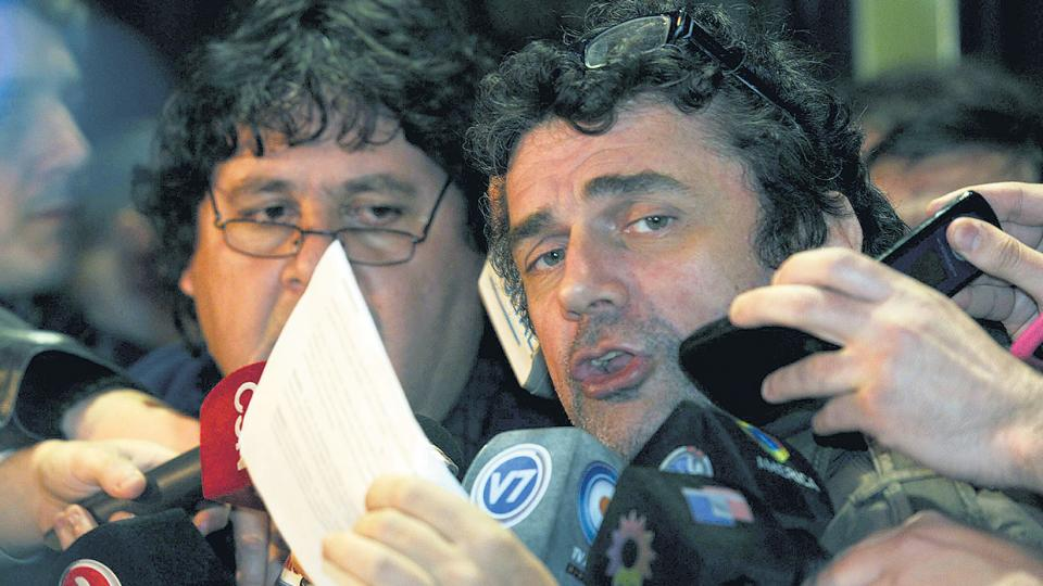Los metrodelegados Néstor Segovia y Roberto Pianelli.