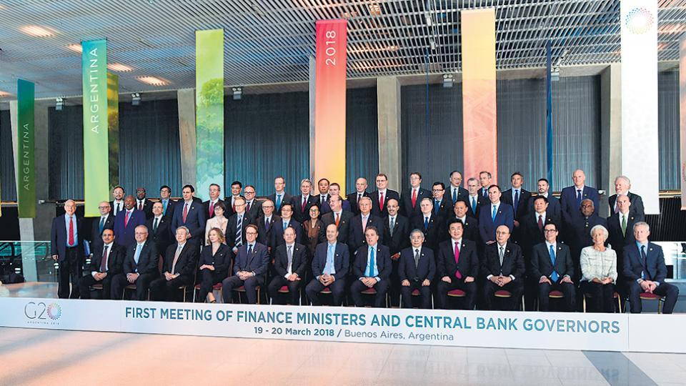 La foto de familia que reúne a todos los ministros que participaron de la cumbre.
