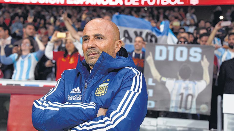 """""""El resultado no se correspondió con el juego desplegado por ambos equipos"""", dijo Sampaoli."""
