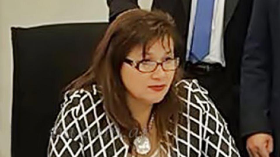 La jueza Claudia Yance.