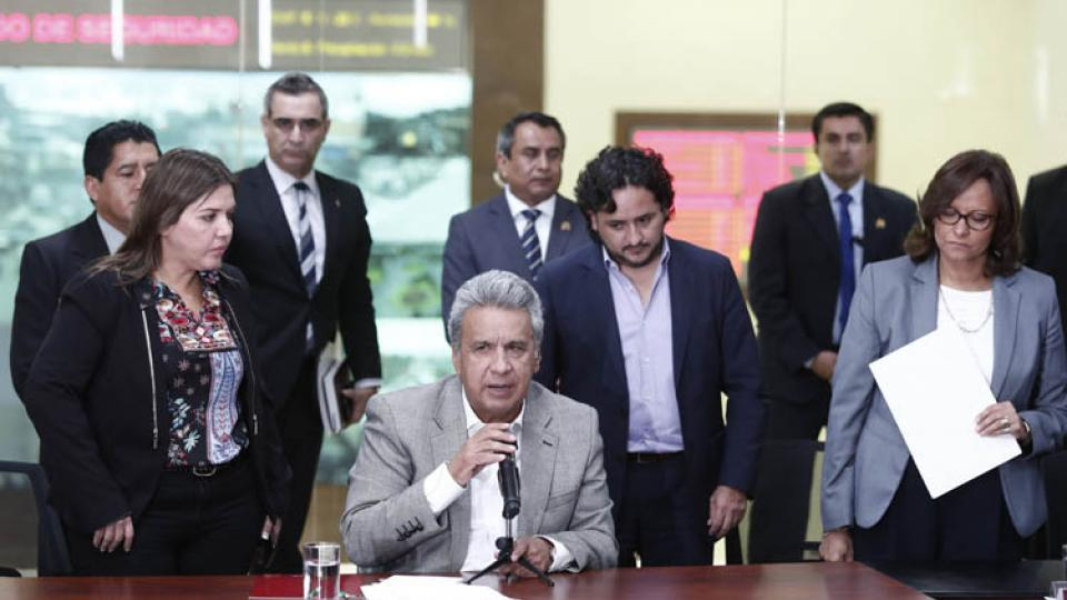 El presidente Moreno confirma los asesinatos de los tres secuestrados en la frontera con Colombia.