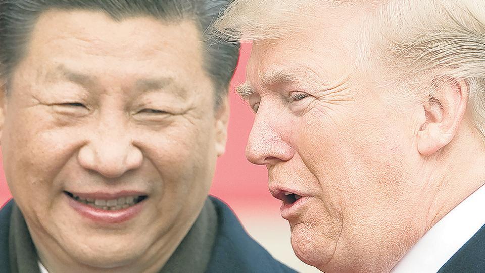 Los presidentes Xi Jinping (República Popular China) y Donald Trump (Estados Unidos).