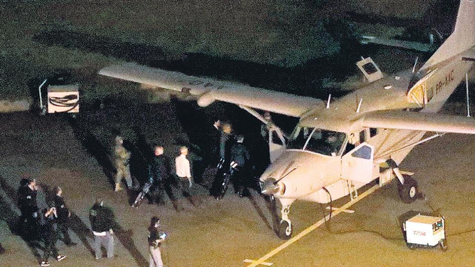 El avión que llevó a Lula desde San Pablo hasta Curitiba, el lugar de la prisión.