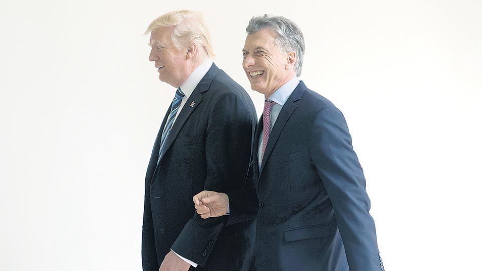 Mauricio Macri se reunió con Donald Trump en la Casa Blanca en abril del año pasado.