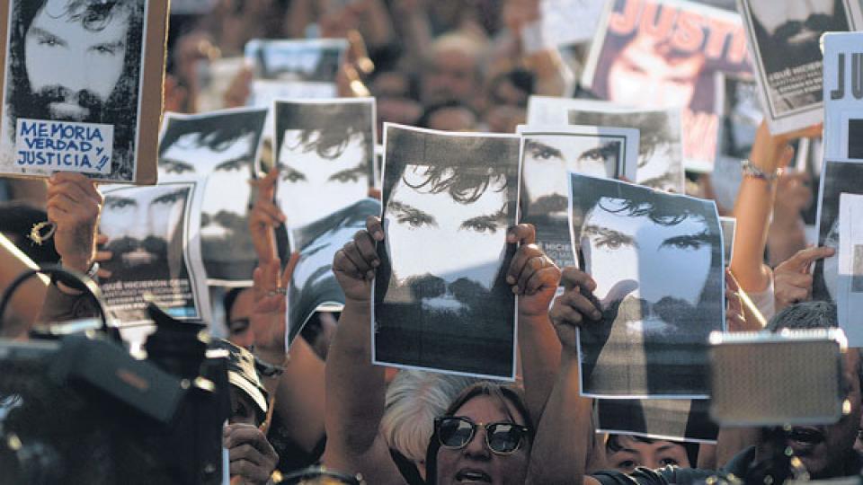Maldonado estuvo desaparecido durante 77 días luego de la represión.