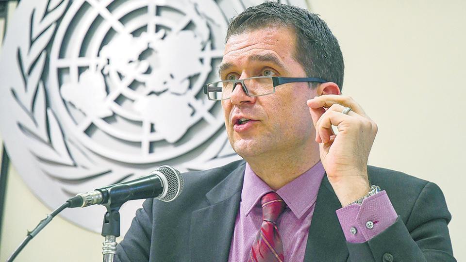 El relator especial sobre tortura de las Naciones Unidas, Nils Melzer.