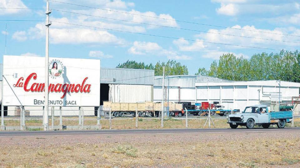 La planta de La Campagnola, en Mendoza. Una empresa con más de cien años de historia hoy en manos de Arcor.