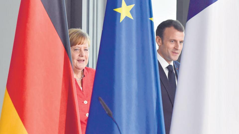 Merkel y Macron reafirmaron ayer la voluntad de superar sus diferencias.