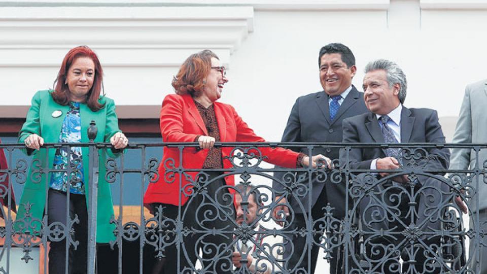 Lenín Moreno, de Ecuador, fue uno de los primeros presidentes en llegar a Lima.