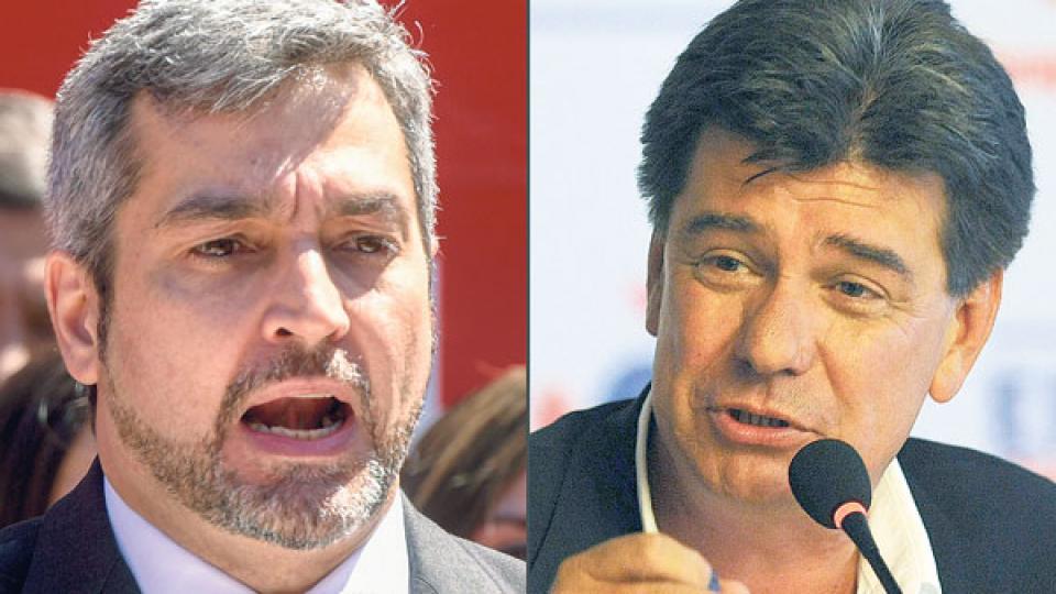 La disputa electoral de hoy se centra en los candidatos Mario Abdo Benítez y Efraín Alegre.