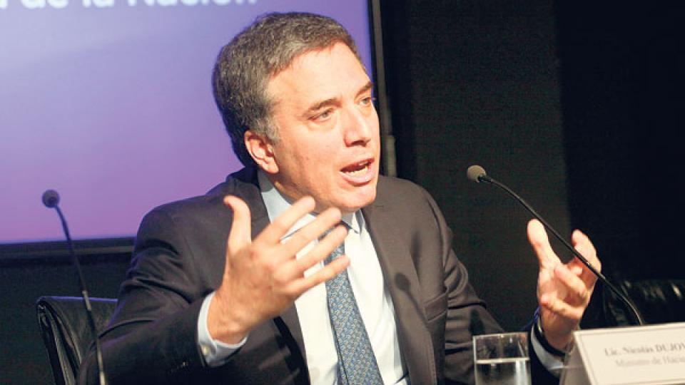 """Nicolás Dujovne. """"Anunciamos medidas para dar certezas de que Argentina va al equilibrio fiscal."""""""