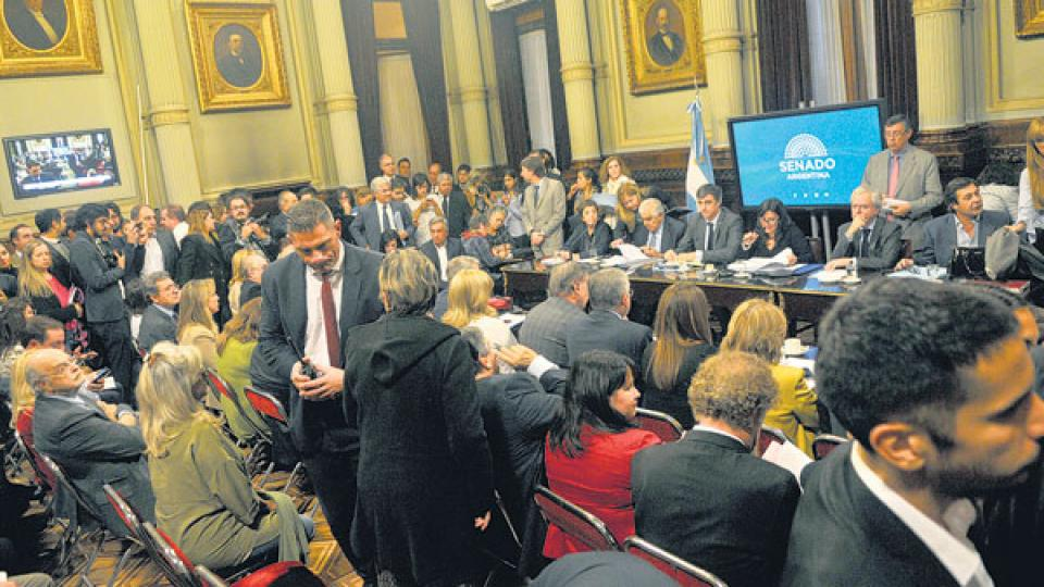 El plenario de tres comisiones del Senado debate el proyecto que busca frenar el tarifazo.