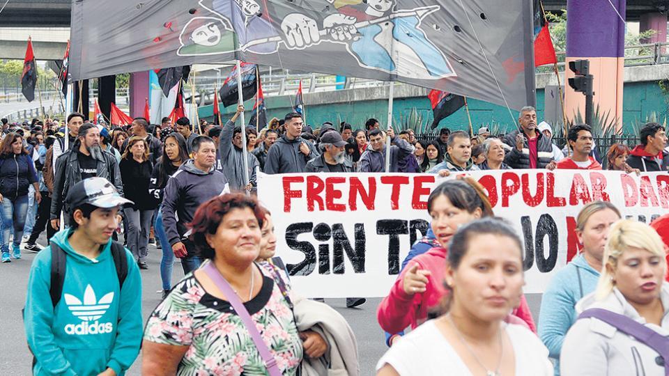 Desocupados y trabajadores de la economía popular reivindicaron la lucha por tierra, techo y trabajo.