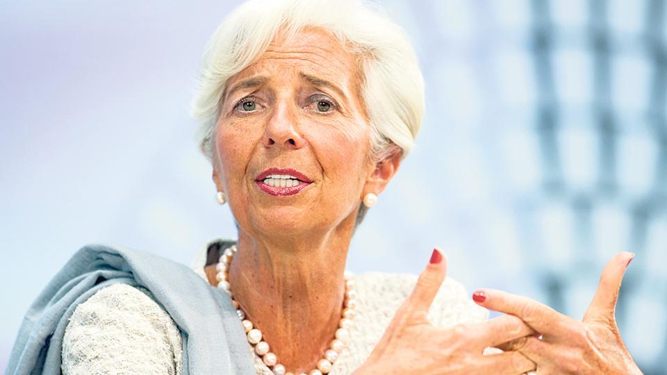 Chistine Lagarde, desde el FMI, brazo ejecutor de las políticas que tensionan los límites de la democracia.