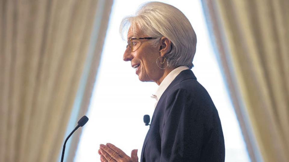 """Christine Lagarde, directora gerente del FMI. Con un """"stand by excepcional"""" para Argentina bajo el brazo."""