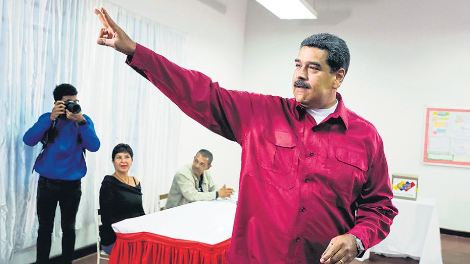 Maduro gobernará por seis años más; dijo que es la victoria 22 en 19 años de chavismo.