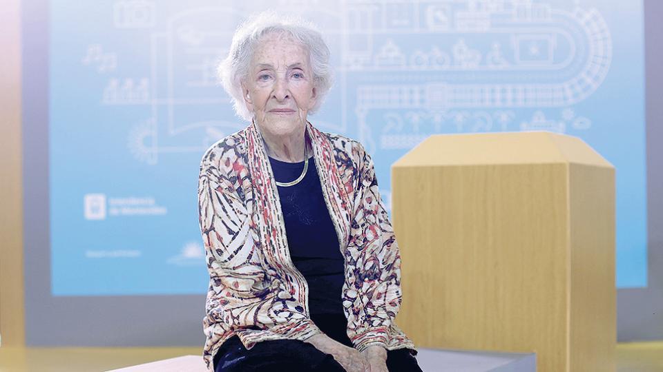Ida Vitale vivió muchos años exiliada en México. Volvió a Montevideo hace un año, tras la muerte de su pareja.