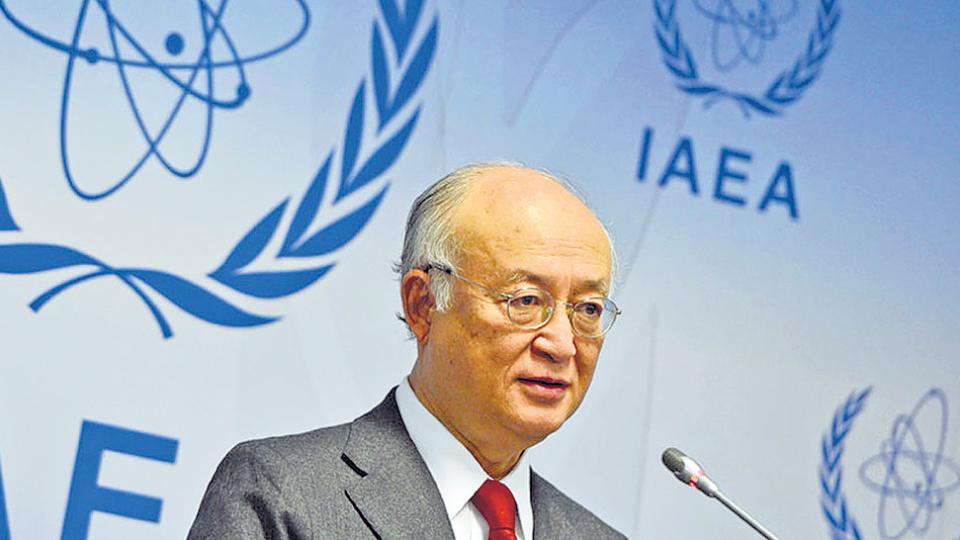 Yukiya Amano, director general de la OIEA, firmó en 2015 un informe favorable a Irán que ayer ratificó su vocero.