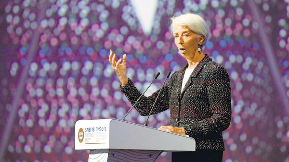 Christine Lagarde, titular del FMI, pactó con el Gobierno los términos del acuerdo.