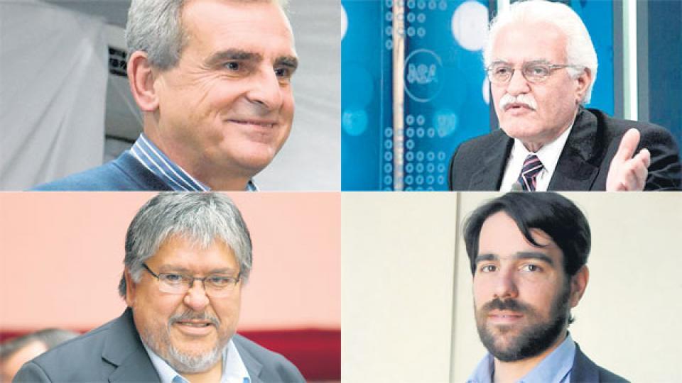 Agustín Rossi, Aldo Pignanelli, Fernando Navarro y Nicolás del Caño.