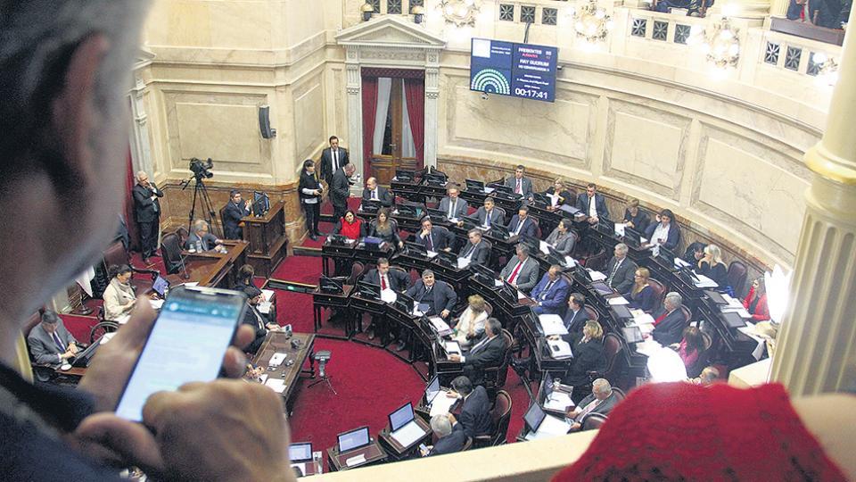 Los presidentes de bloque del Senado se reunieron ayer en la Comisión de Labor Parlamentaria.