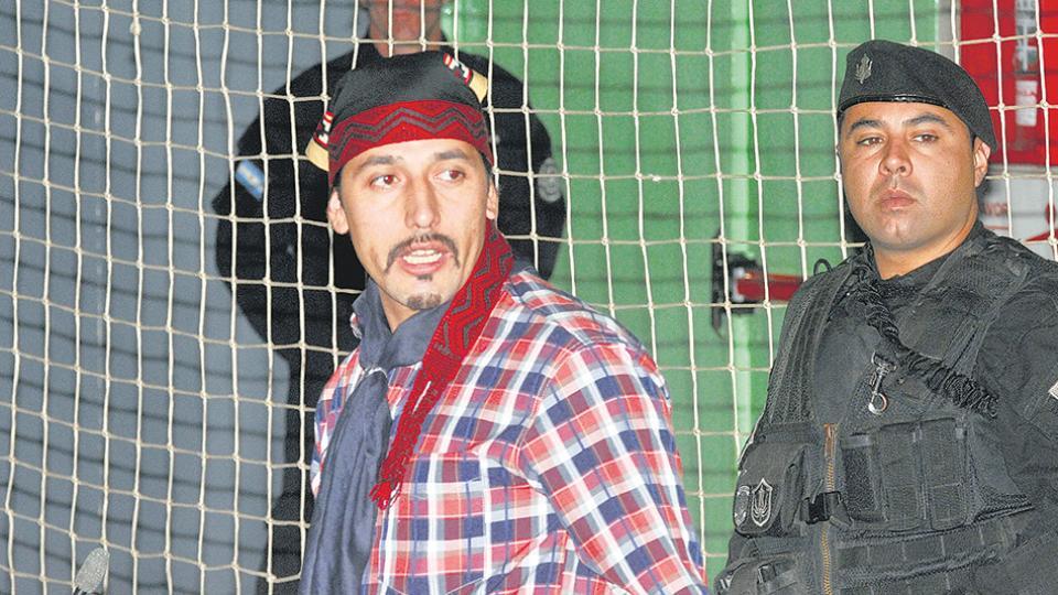 Se agrava la salud de Jones Huala El dirigente mapuche está realizando una huelga de hambre en la cárcel de Esquel