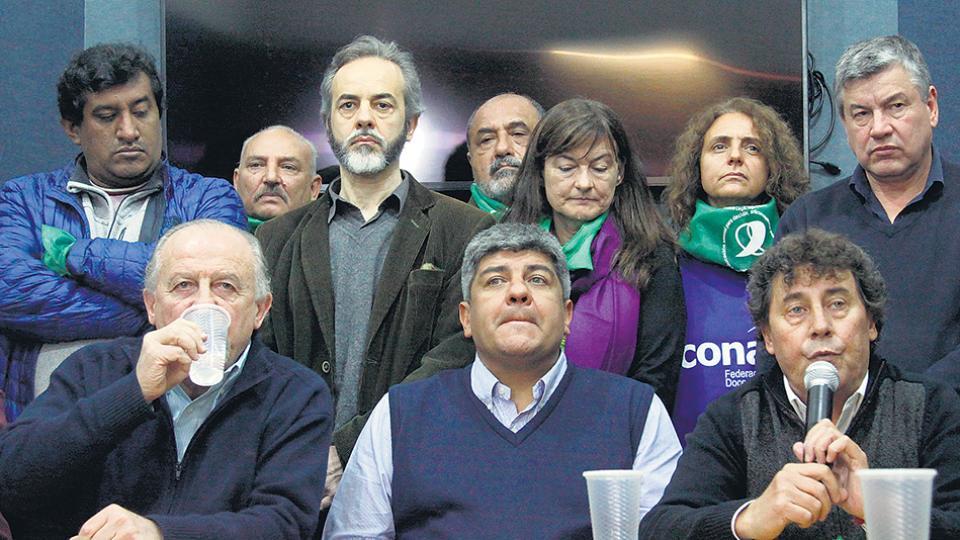 Hugo Yasky, Pablo Moyano y Pablo Micheli serán los oradores del acto de cierre en Plaza de Mayo.