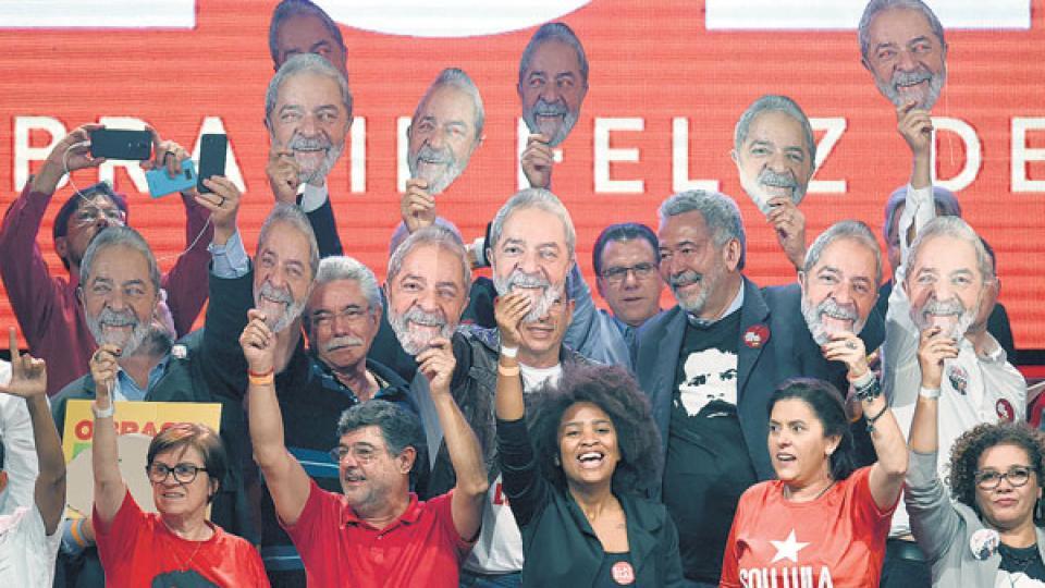 Dirigentes del Partido de los Trabajadores lanzaron oficialmente la candidatura de Lula este fin de semana.