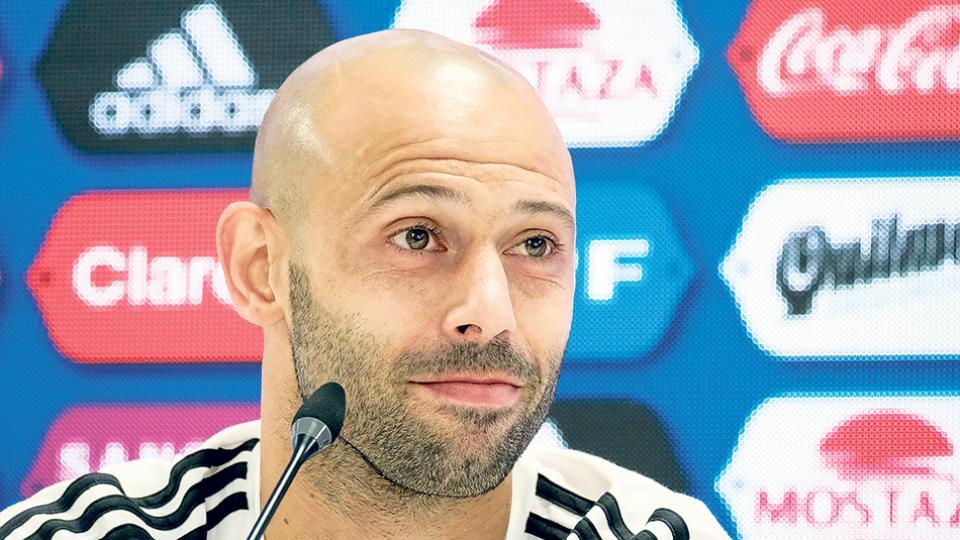 """""""Ojalá pueda volver a jugar en Argentina y en River"""", dijo Mascherano."""