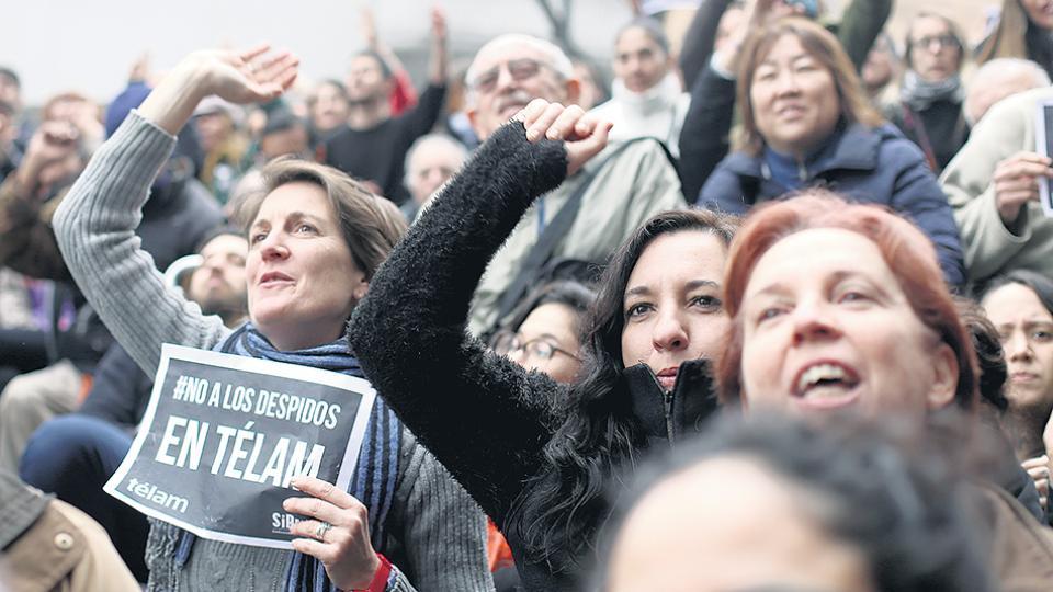 En la agencia de noticias Télam la semana pasada se conocieron 357 despidos.