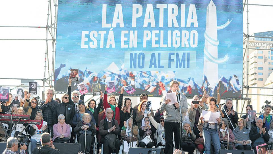 La movilización de hoy es continuidad de la realizada el 25 de mayo pasado.
